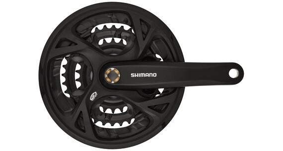 Shimano FC-M371 Zestaw do łaćucha Trekking kwadratowe 9-biegowe 48-36-26 Z czarny